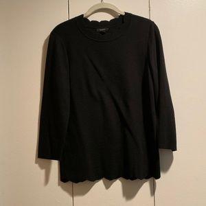 Halogen Scallop Edge Sweater